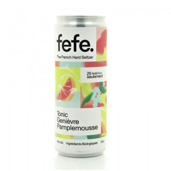 Hard Seltzer Tonic genievre pamplemousse Fefe 5% 33cl