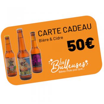 Carte Cadeau Bière & Cidre 50€