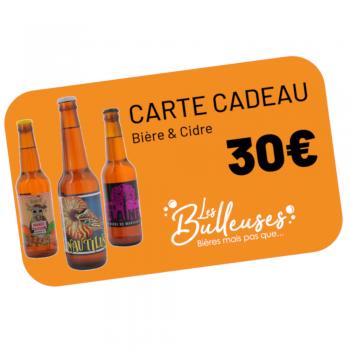 Carte Cadeau Bière & Cidre 30€