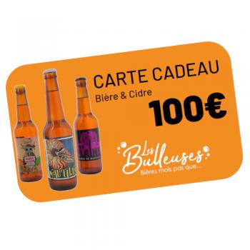 carte cadeaux bière&cidre 100 euros