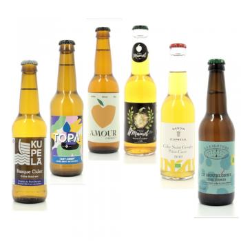 Coffret de 6 bouteilles de cidre de producteurs français