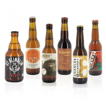 Coffret 6 bouteilles de bières artisanales brassées dans le Nord de la France