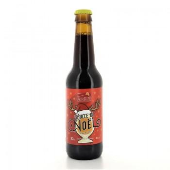 Bière brune Bulle de Noël brasserie Bulles de Provence 6% 33cl