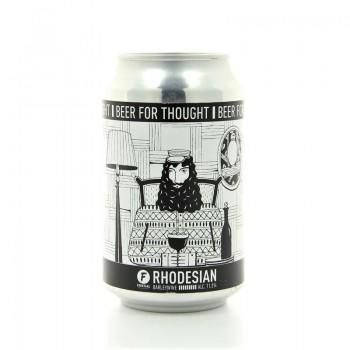 Bière noire barleywine Rhodesian Frontaal 33cl