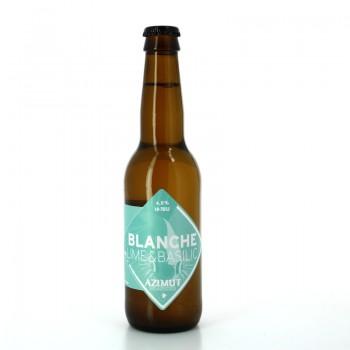 Bière Blanche au Citron Vert et au Basilic - Brasserie Artisanale Azimut
