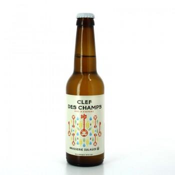 Bière Blonde La Clef des Champs brassée artisanalement en Biodynamie - Brasserie Sulauze