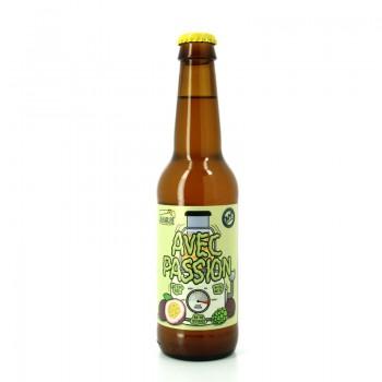 Bière Blonde aux Fruits de la Passion BIO Avec Passion - Brasseries Artisanales Bulles de Provence & B.A.P