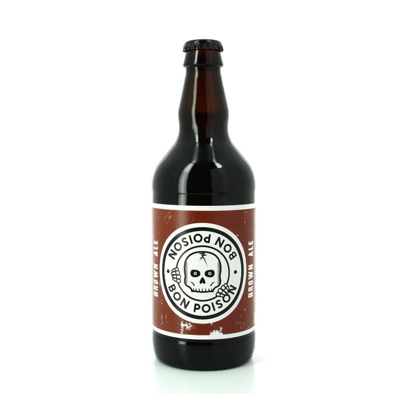Bière Brown Ale brune aux arômes caramélisés - Brasserie Artisanale Bon Poison