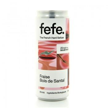 Hard Seltzer Fraise Bois de Santal Fefe 5% 33cl