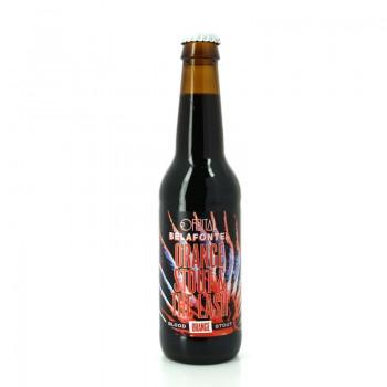 Bière de style Foreign Stout à l'Orange Sanguine de Sicile - Collab' des brasseries Orbital & Belafonte Brewing Company