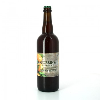 Bière Blonde à la Clémentine 75cl - Brasserie Artisanale Corsina